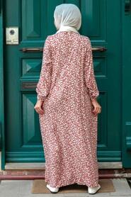 Sunuff Colored Hijab Dress 7660TB - Thumbnail