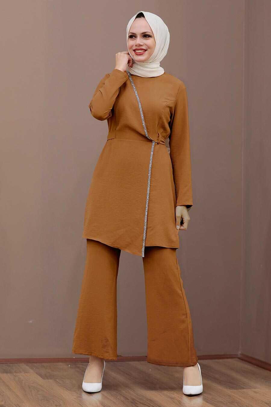 Sunuff Colored Hijab Dual Suit Dress 3000TB