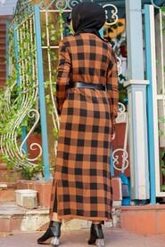 Sunuff Colored Hijab Knitwear Dress 3048TB - Thumbnail