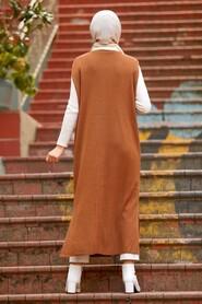 Sunuff Colored Hijab Knitwear Vest 3324TB - Thumbnail
