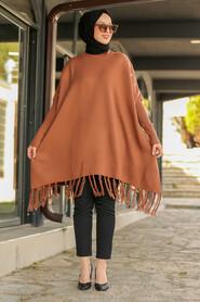 Sunuff Colored Hijab Poncho 2305TB - Thumbnail