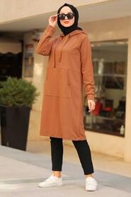 Sunuff Colored Hijab Sweatshirt & Tunic 16030TB - Thumbnail