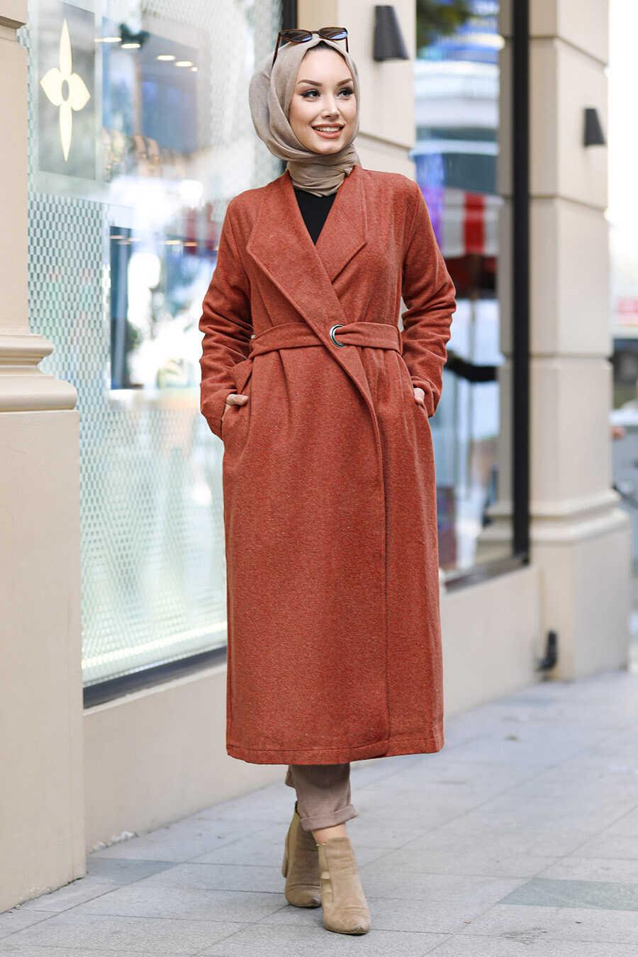 Terra Cotta Hijab Coat 5569KRMT