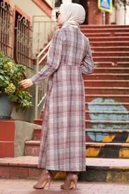 Terra Cotta Hijab Coat 8941KRMT - Thumbnail