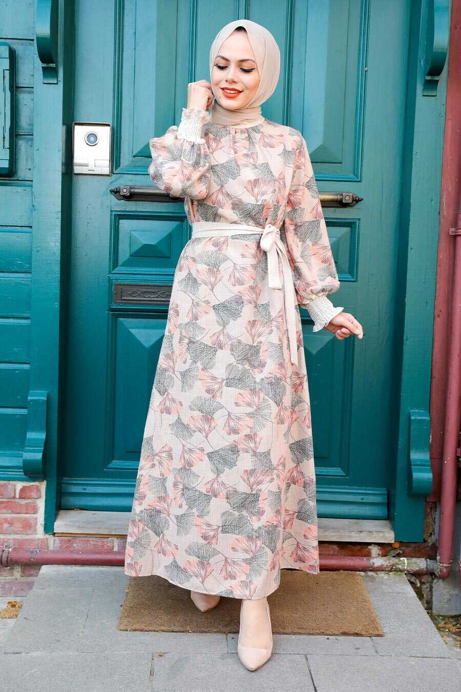 Terra Cotta Hijab Dress 12340KRMT