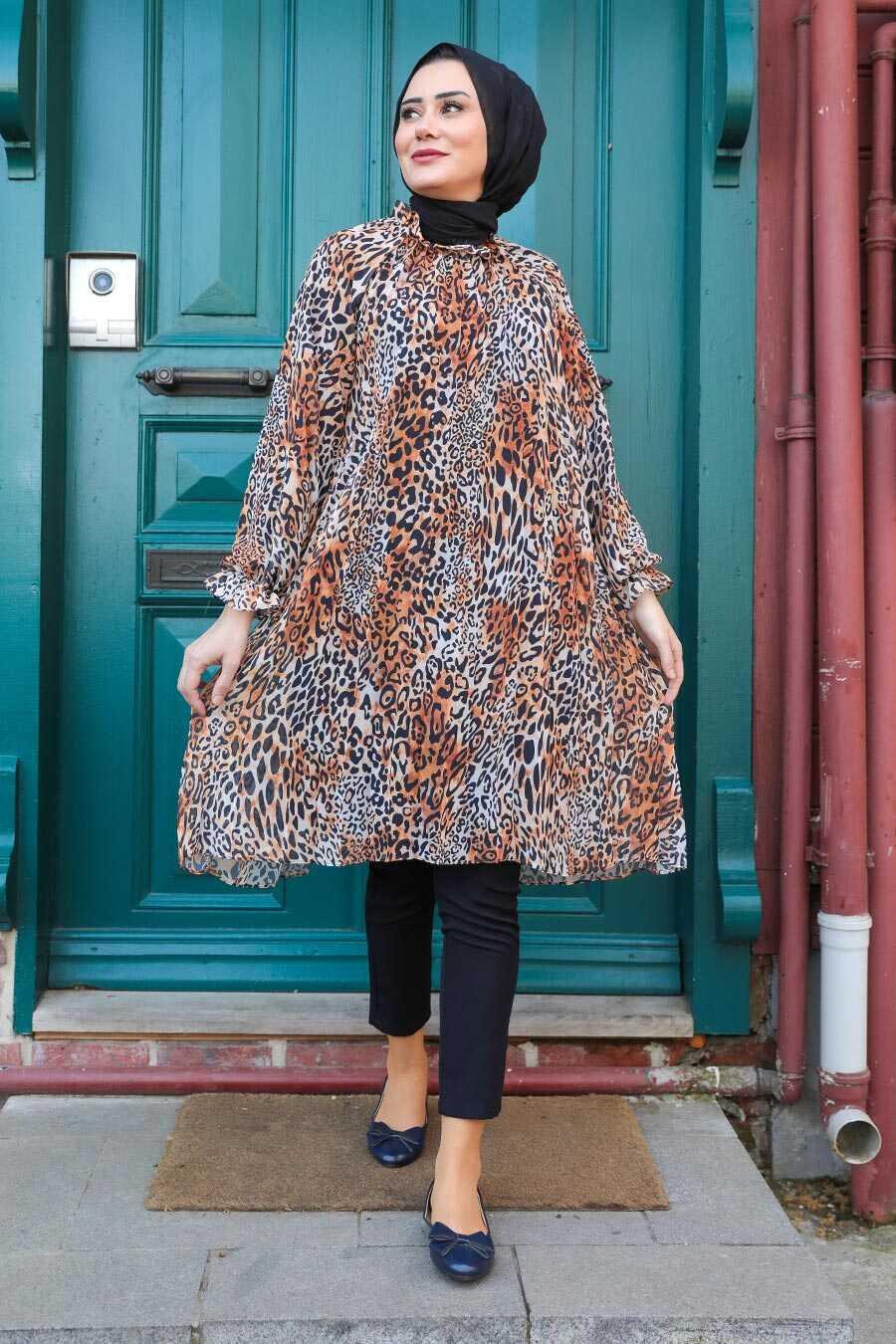 Terra Cotta Hijab Dress 1434KRMT