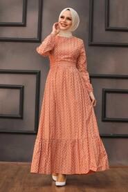 Terra Cotta Hijab Dress 28480KRMT - Thumbnail
