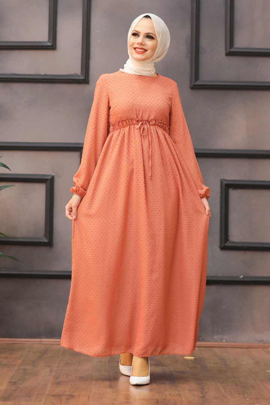 Terra Cotta Hijab Dress 4341KRMT