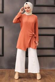 Terra Cotta Hijab Dual Suit 3039KRMT - Thumbnail