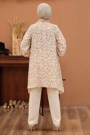 Terra Cotta Hijab Dual Suit Dress 30091KRMT - Thumbnail
