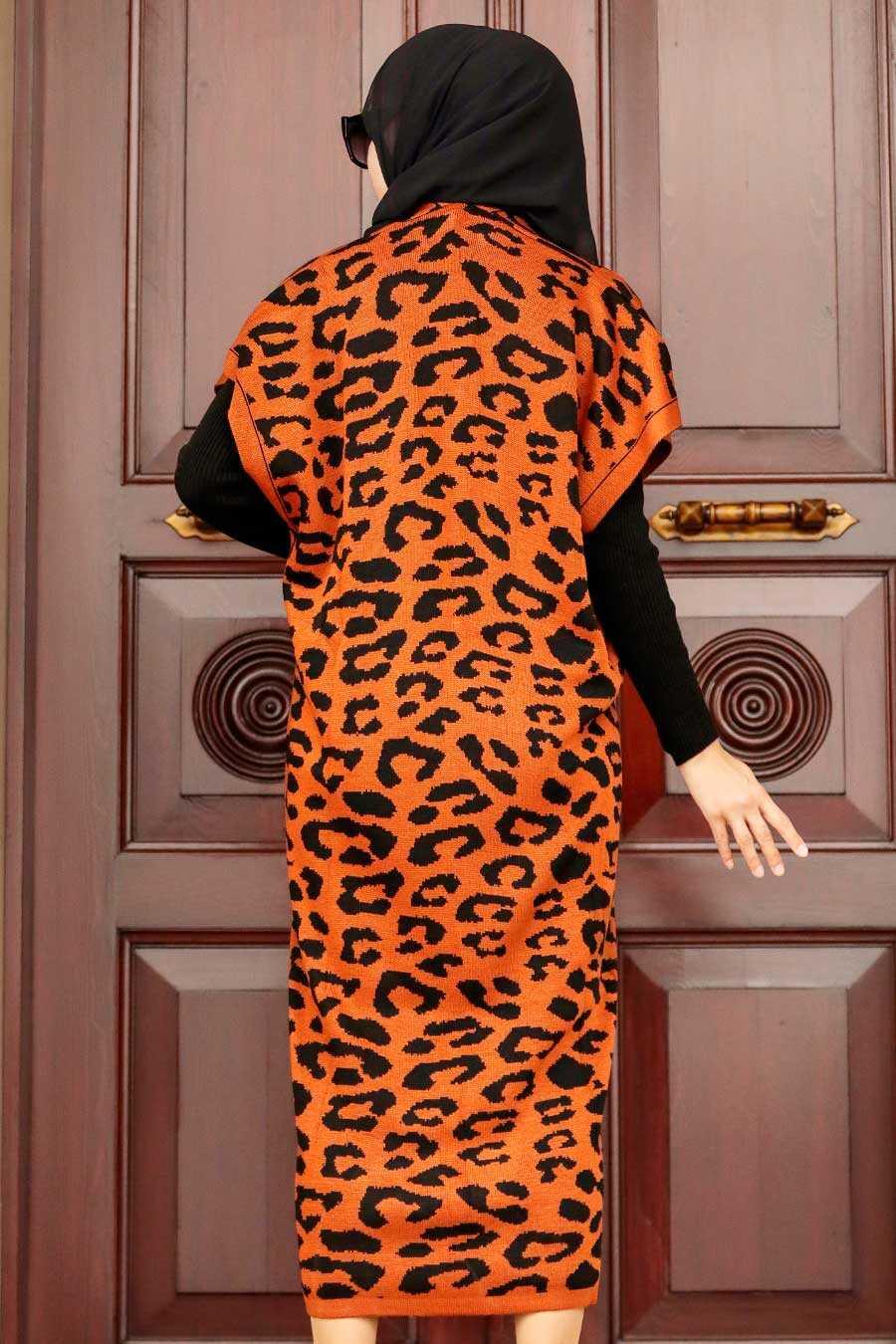 Terra Cotta Hijab Knitwear Suit Dress 3192KRMT