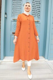 Terra Cotta Hijab Tunic 510KRMT - Thumbnail