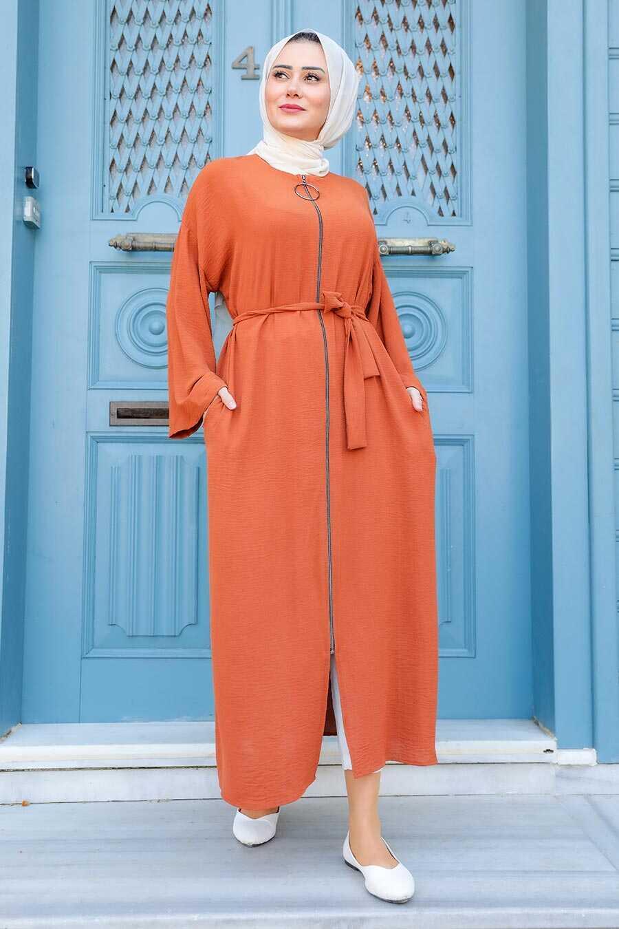 Terra Cotta Hijab Turkish Abaya 544KRMT
