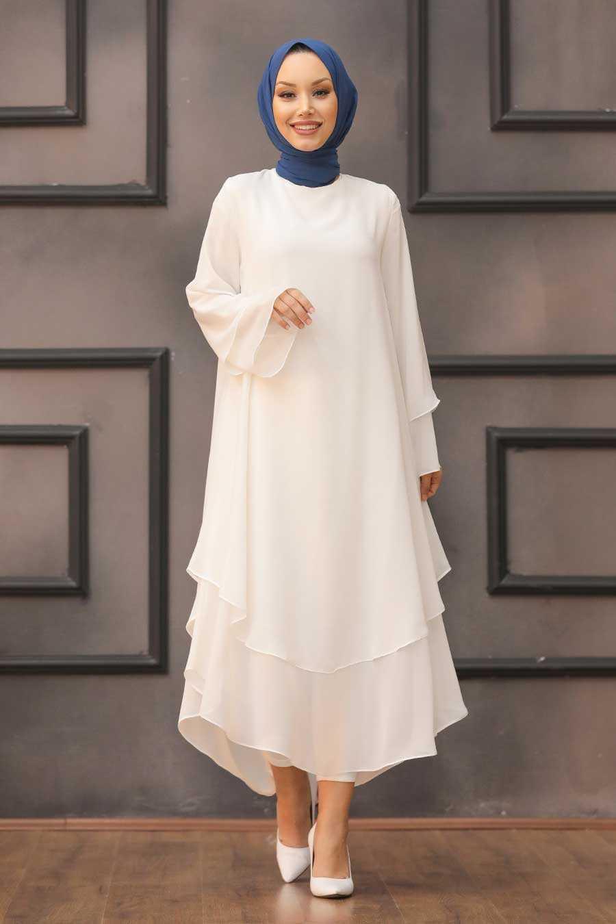 White Hijab Tunic 33170B