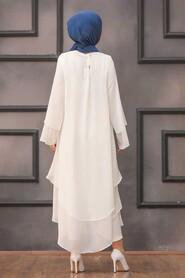 White Hijab Tunic 33170B - Thumbnail